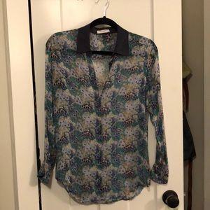 Equipment silk blouse size XS